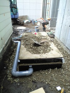 融雪機排水工事