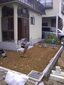 民地石施工