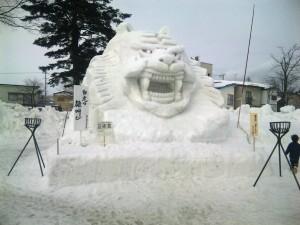 雪像も大迫力です。
