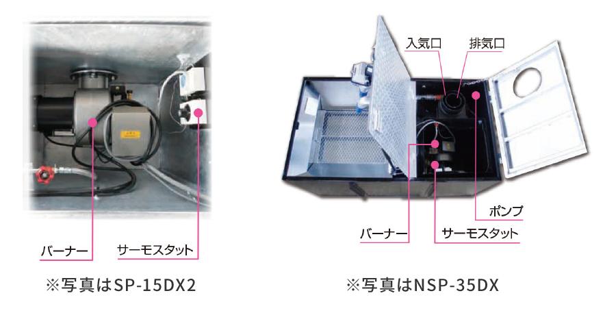 主要機器 SP-15DX2 NSP-35DX