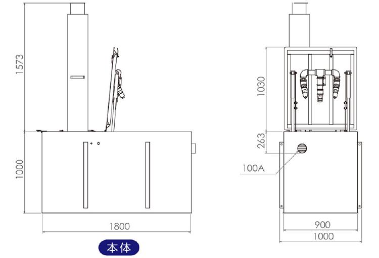 NSP-20DX2 外観図